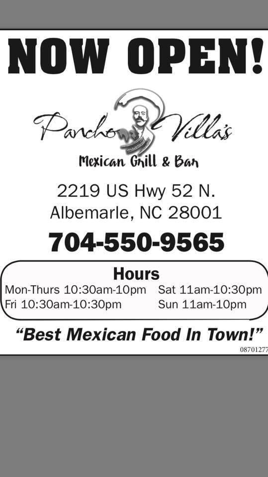 Pancho Villa: 2219 US Hwy 52 N, Albemarle, NC