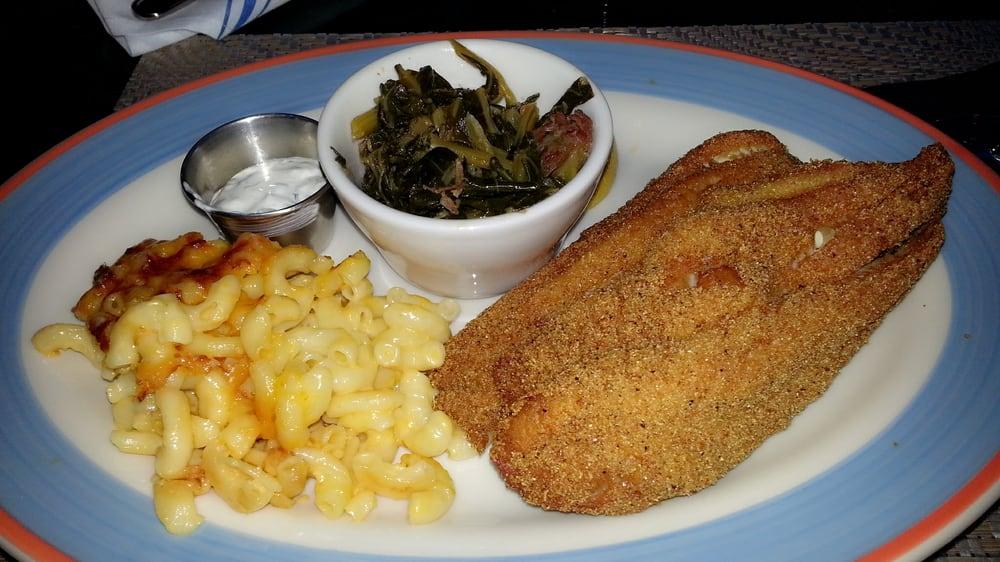 ... , OK, United States. Fried Catfish, mac & cheese, & collard greens
