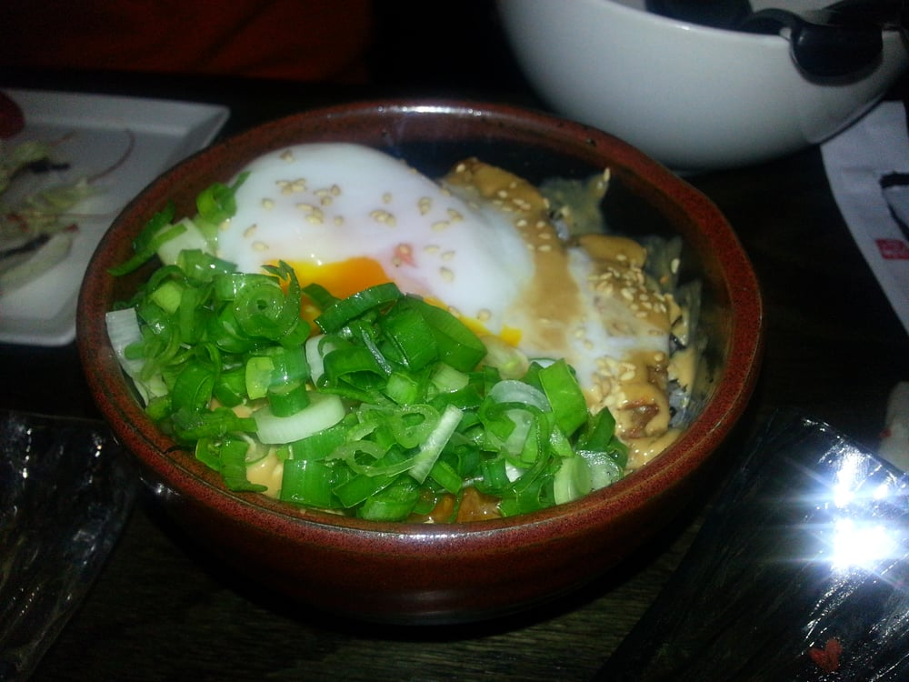 ... States. miso flavored Roasted Pork with Poached Egg over Rice - $6