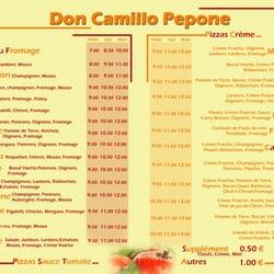 Pizza Peppone Bordeaux Carte.Le Tristan Don Camillo Italian 164 Chemin De La Planquette La