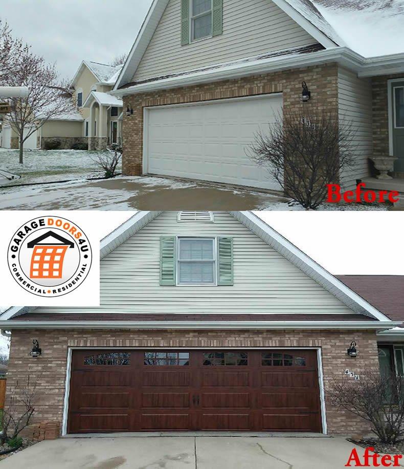 Replaced garage door loveland colorado garage doors 4 u for Garage door repair longmont co