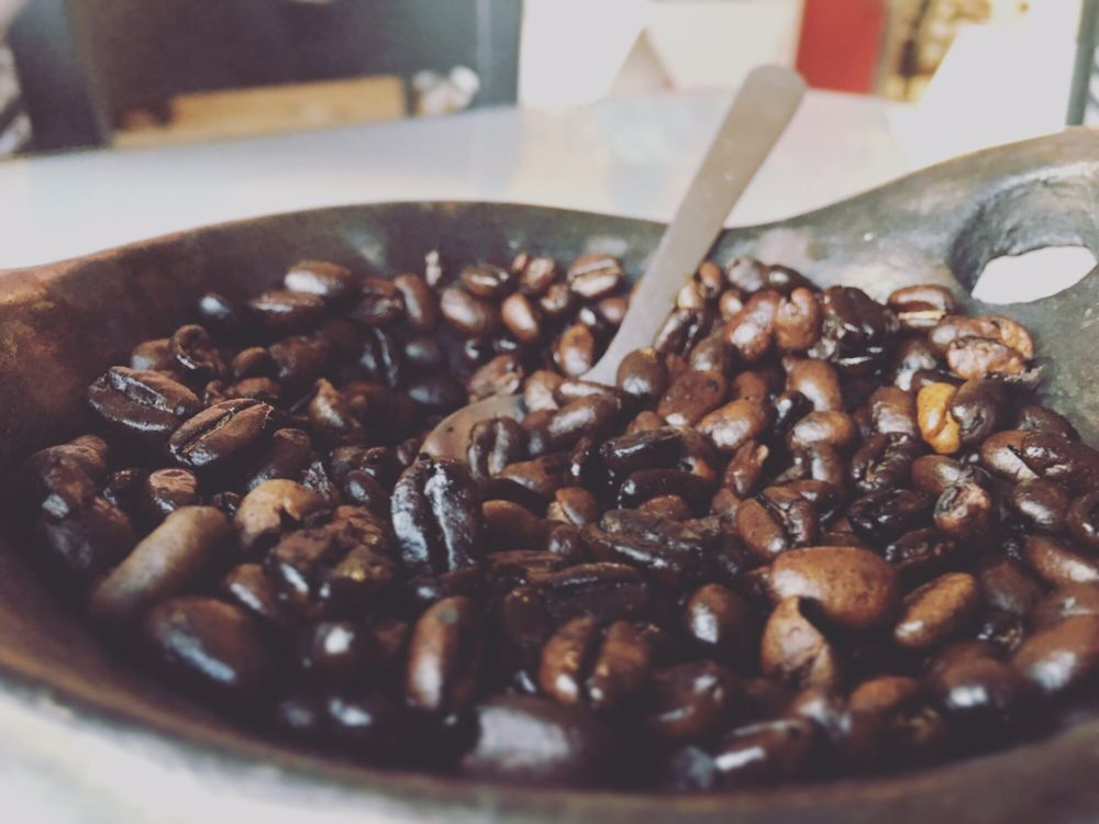 The Ethiopian Coffee Beans Roasting At The Table Yelp