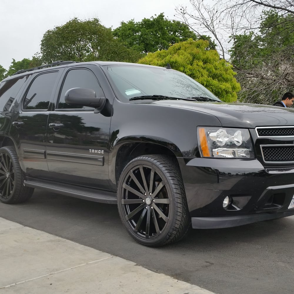 """2013 Chevrolet Tahoe Ltz For Sale: 24"""" Velocity 12 Rims & Tires On A 2011 Chevy Tahoe."""
