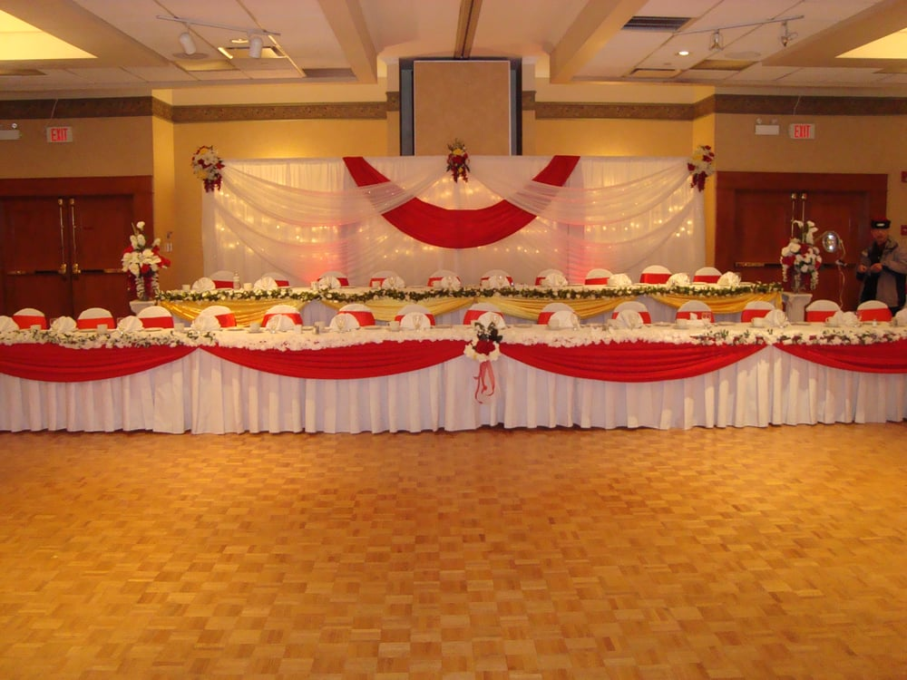 Wedding hall decoration wedding reception backdrop head for Wedding hall decoration items