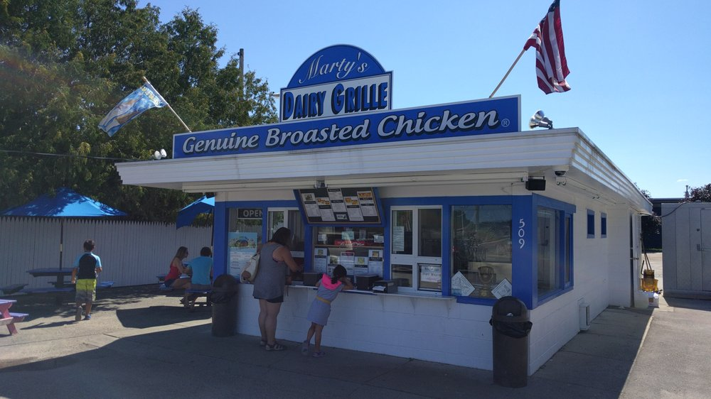 Marty's Cones & Carry Out: 509 Water St, East Jordan, MI