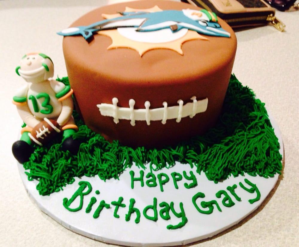 Miami Dolphins Birthday Cake - Yelp