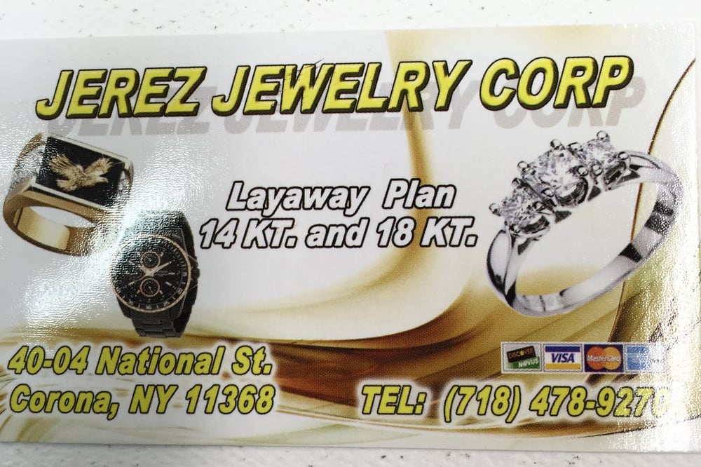 Jerez Jewelry Corporation: 4004 National St, Corona, NY