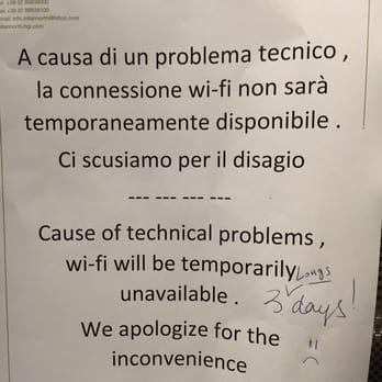 Photo Of Hilton Garden Inn Milan North   Milan, Italy. The WIFI Stopped  Working