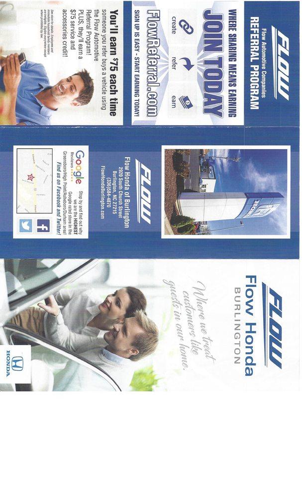 Flow Honda Burlington >> Flow Honda Of Burlington 24 Reviews Car Dealers 2920 S