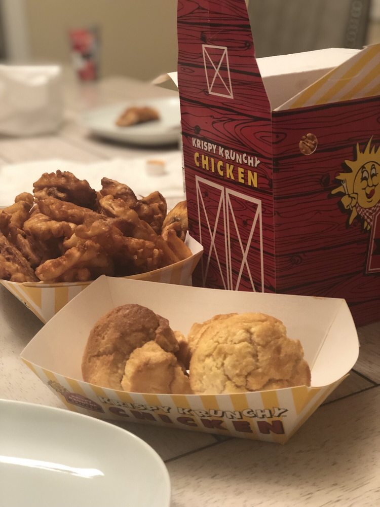 Food from Quik Shoppe & Krispy Krunchy Chicken