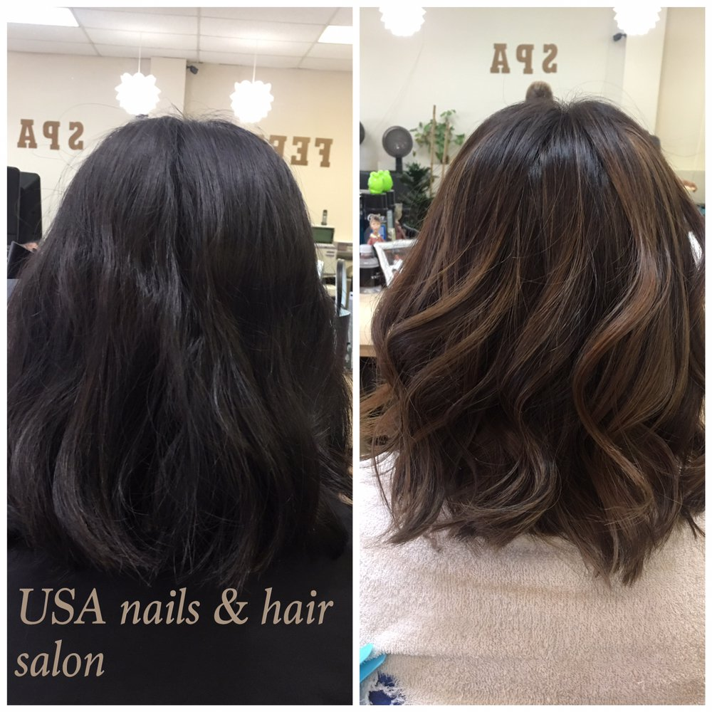 Soft ombr on short hair yelp for Beauty salon usa