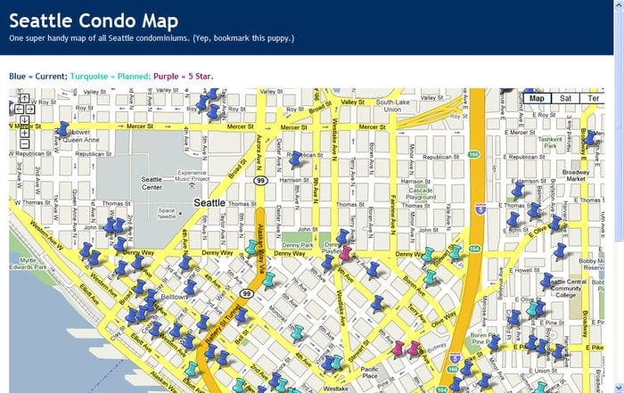 Wendys handy condo map at wwwSeattleCondoMapcom Yelp