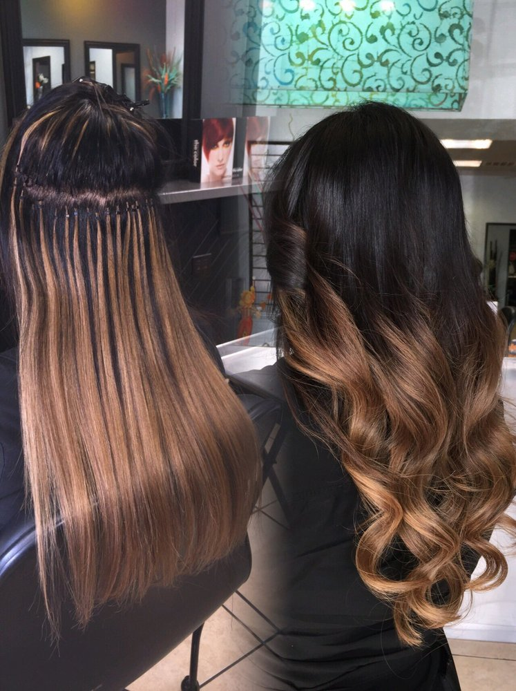 Ombre babe hair extensions micro beads itip extensions yelp photo of lx hair studio houston tx united states ombre babe hair pmusecretfo Image collections
