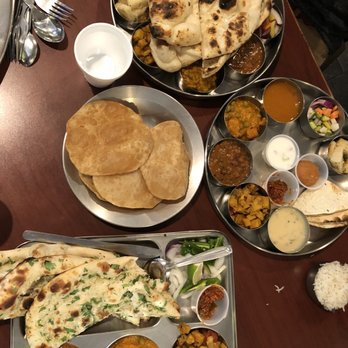 Photo Of Swad Indian Vegetarian Restaurant Austin Tx United States Two Thali