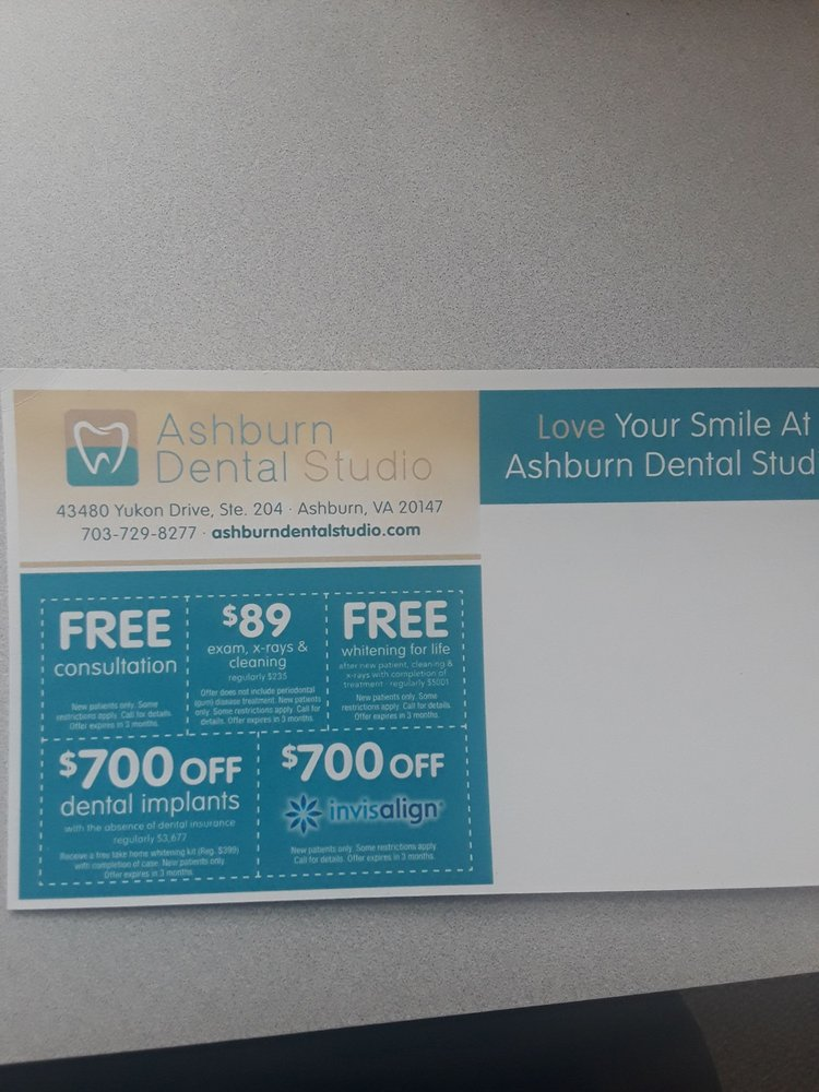 Ashburn Dental Studio: 43480 Yukon Dr, Ashburn, VA