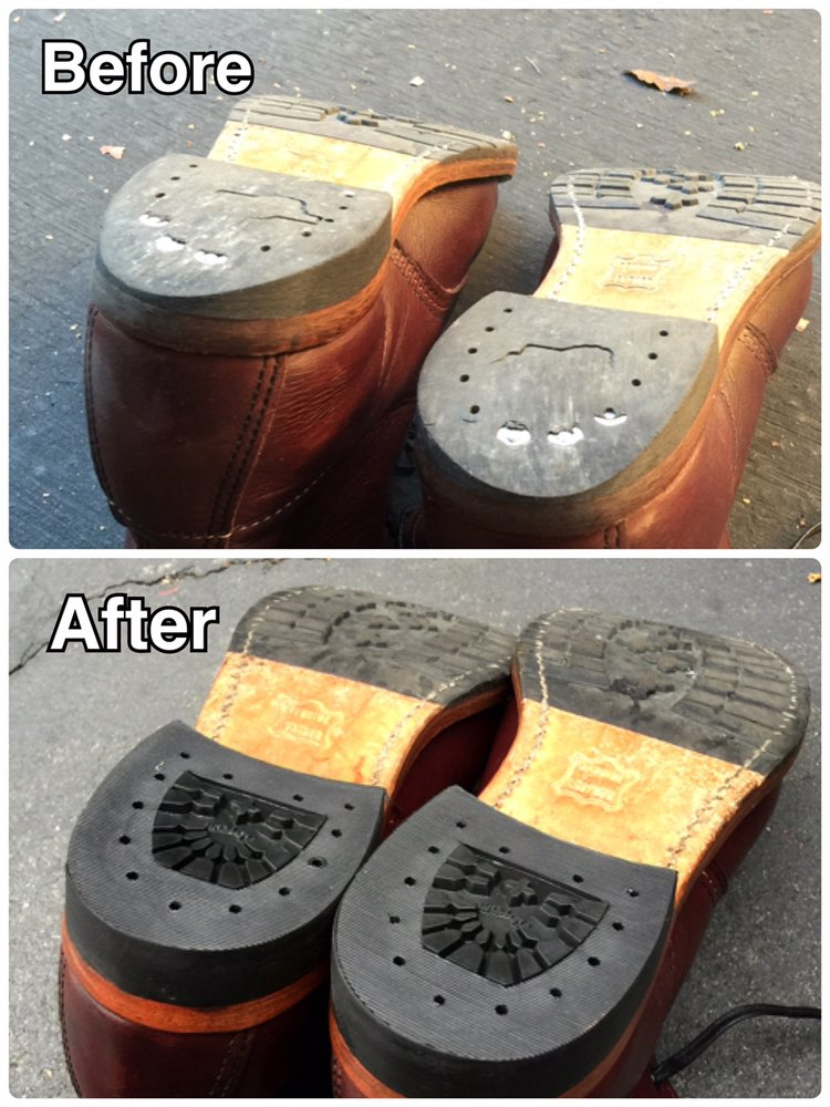 before and after heel replacement for my red wing boots awesome