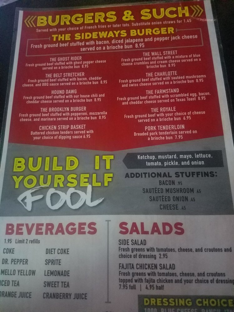 Sideways Bar&Grill: 555 SW 39th St, Topeka, KS