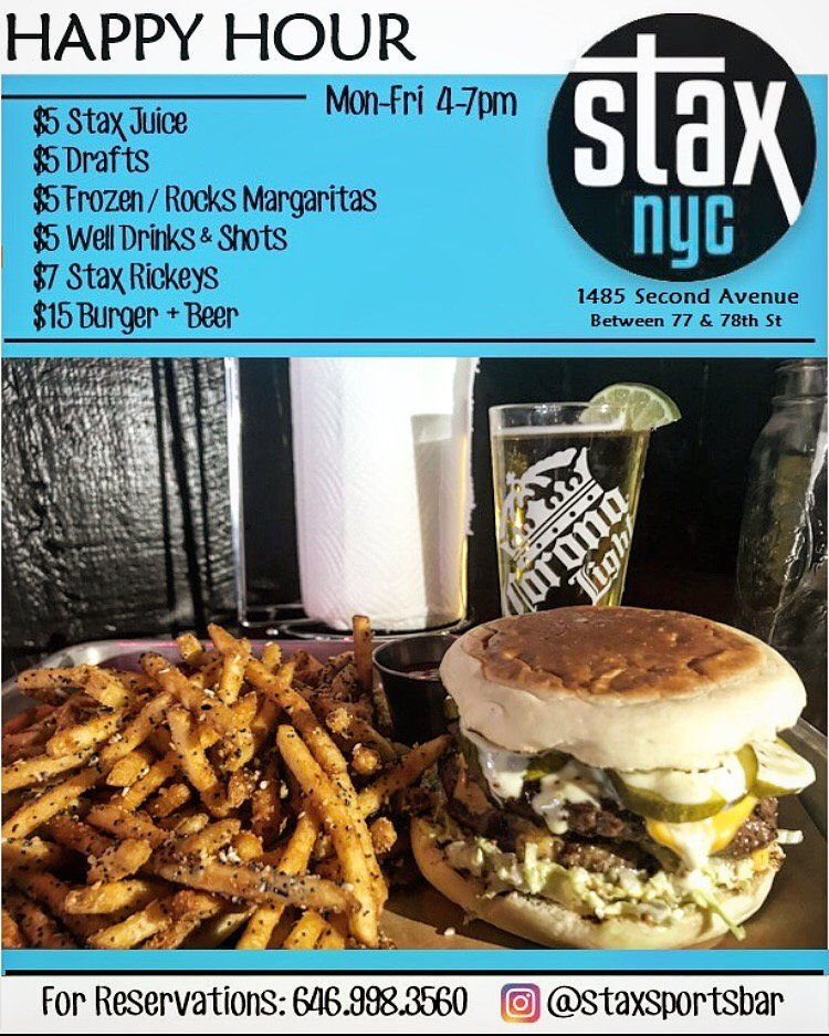Stax Sports Bar: 1485 2nd Ave, New York, NY