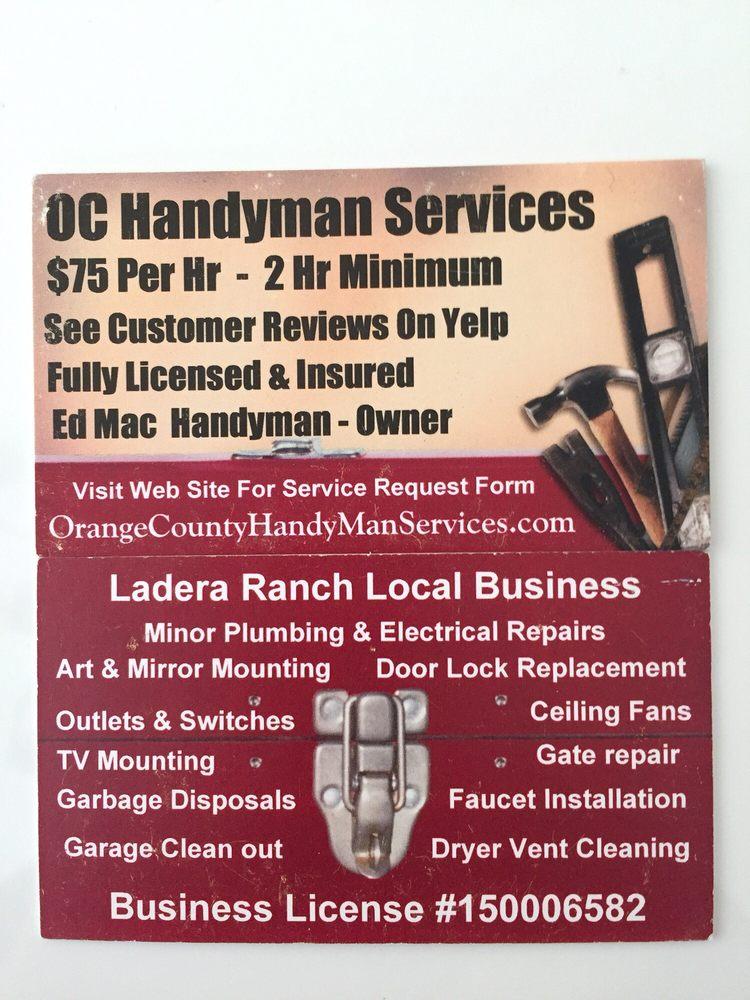 Orange County Handyman Services - 168 Reviews - Handyman - Ladera