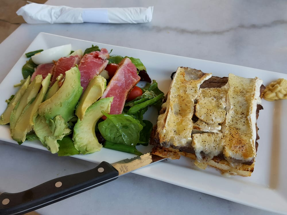 steak and brie sando with upgraded side salad ahi nicoise with avo yelp. Black Bedroom Furniture Sets. Home Design Ideas