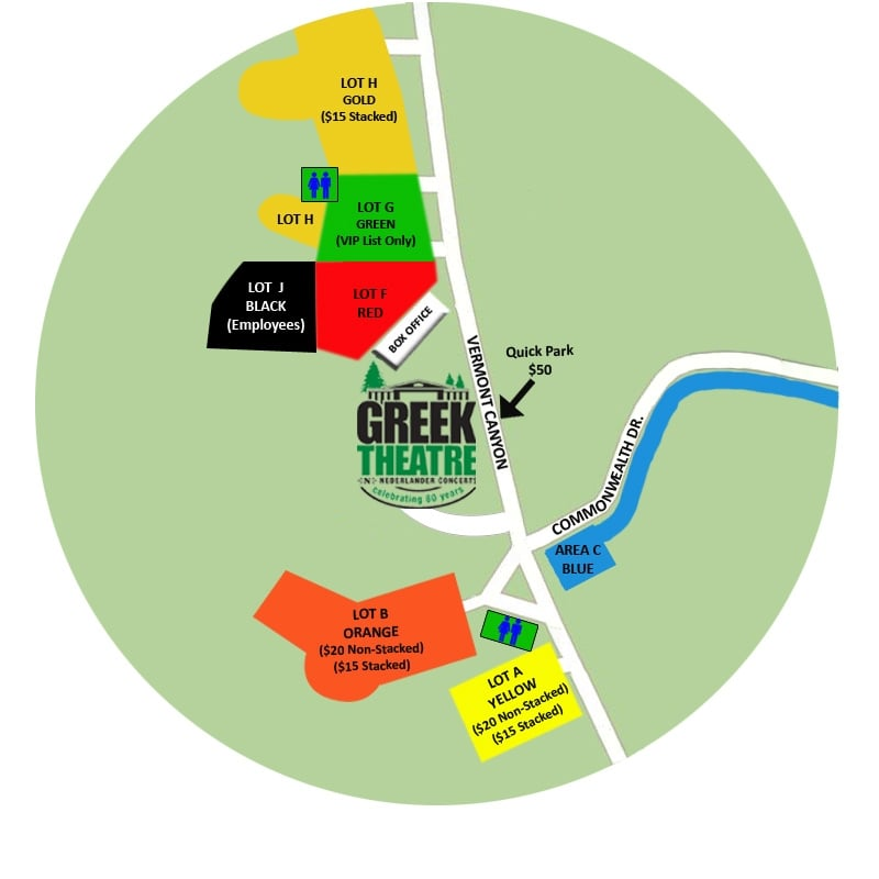 Greek Theatre Parking Map Yelp