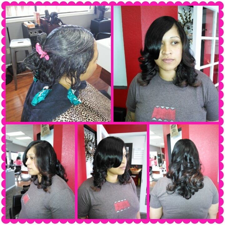 Gorgeous Dark Brown Hair Color Applied With Peek A Boo Light Brown