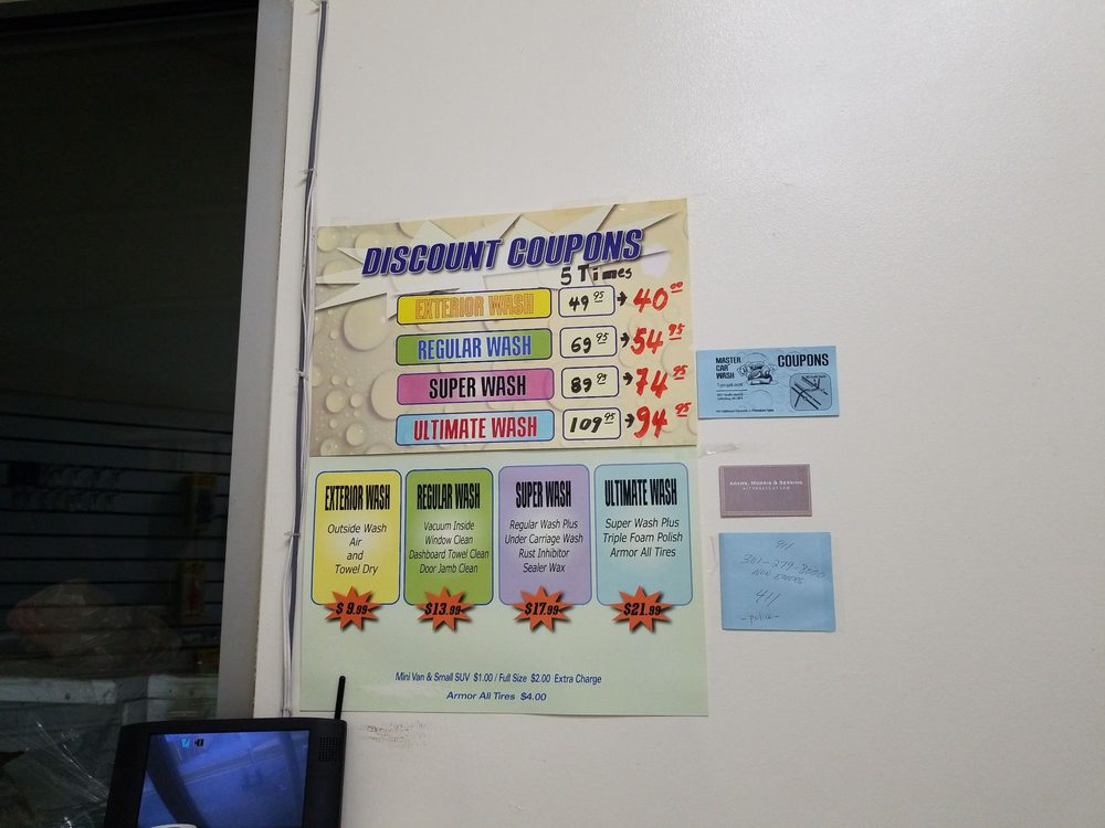 new concept 165d8 0b300 Photo of Master s Carwash - Gaithersburg, MD, United States. Discount coupon  deals are