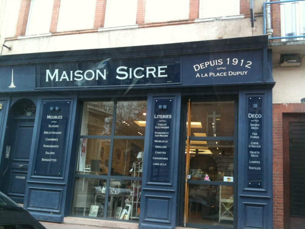maison sicre magasin de meuble 23 rue des fr res lion. Black Bedroom Furniture Sets. Home Design Ideas