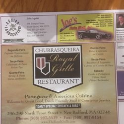the royal grille portuguese 296 n front st new bedford ma restaurant reviews phone number menu yelp