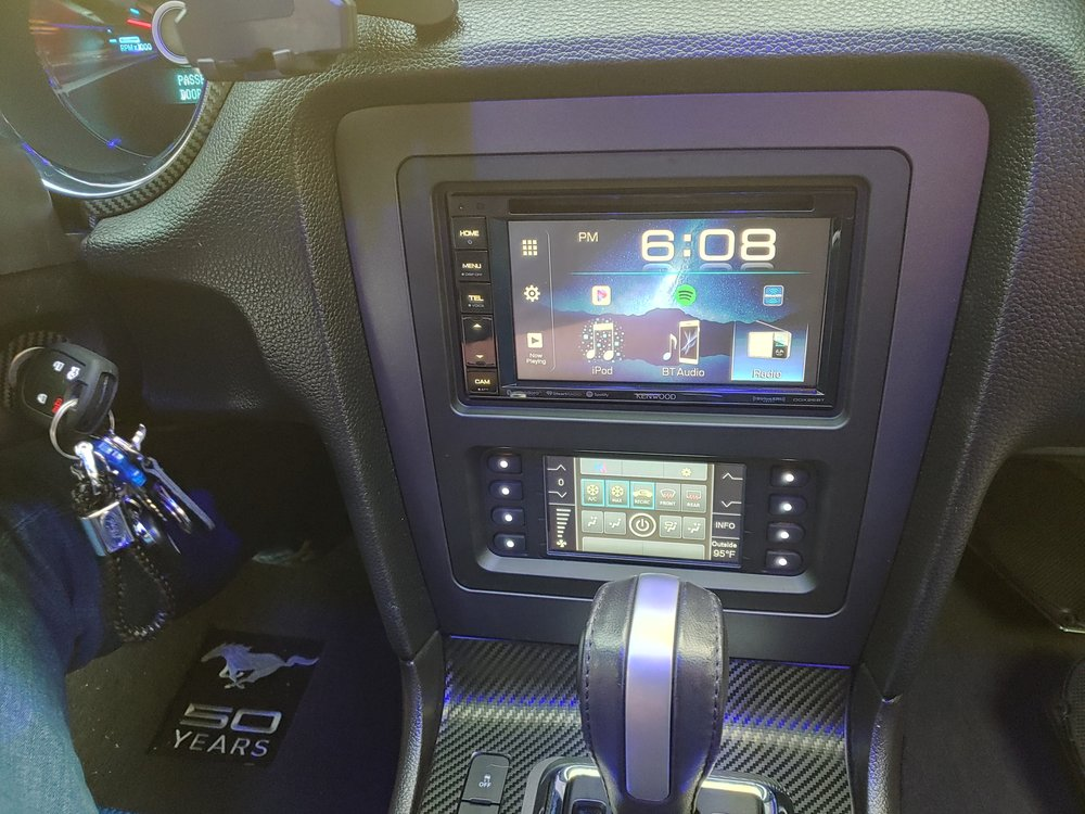 2014 Ford mustang got a Kenwood ddx26bt radio installed $50