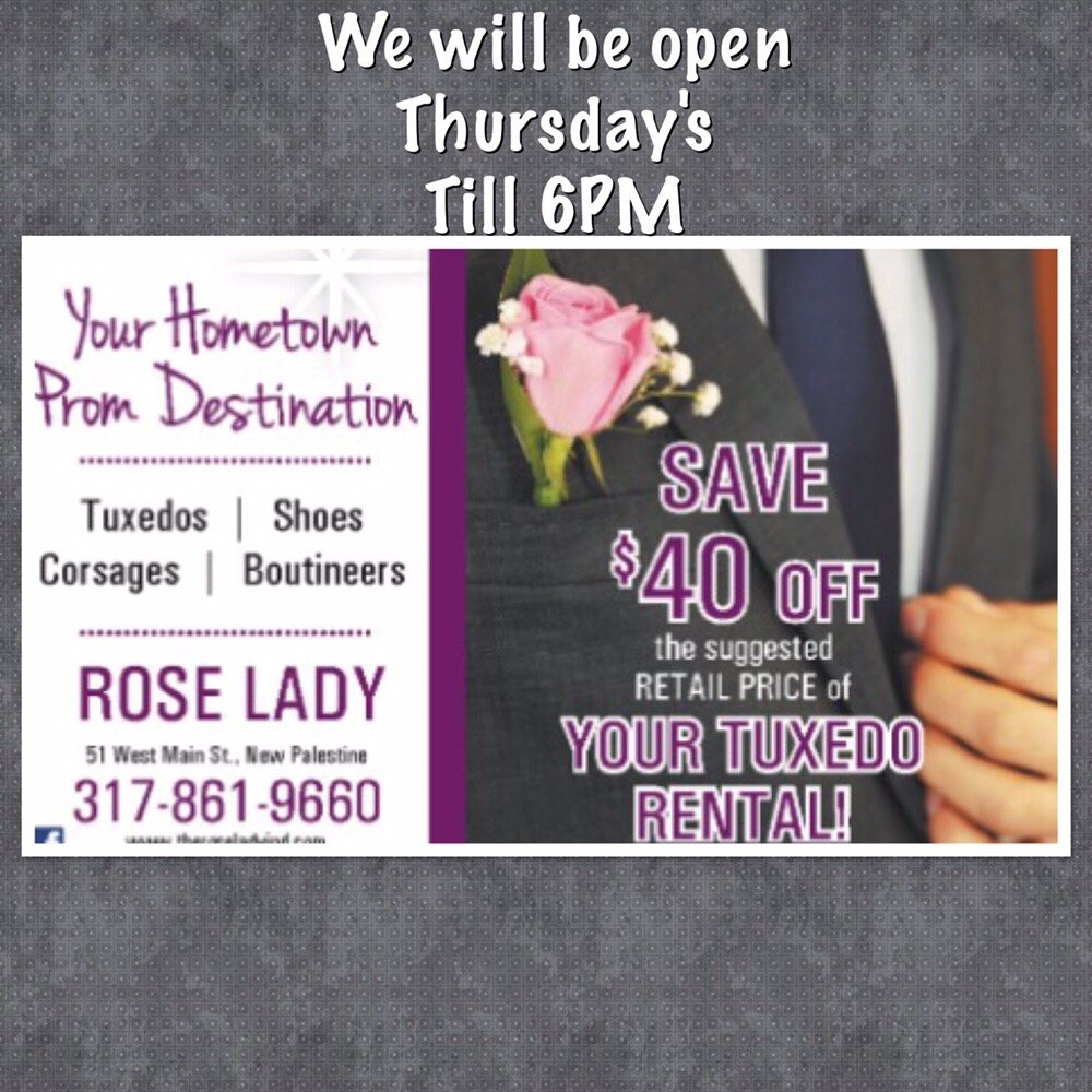 The Rose Lady Floral Design: 51 W Main St, New Palestine, IN