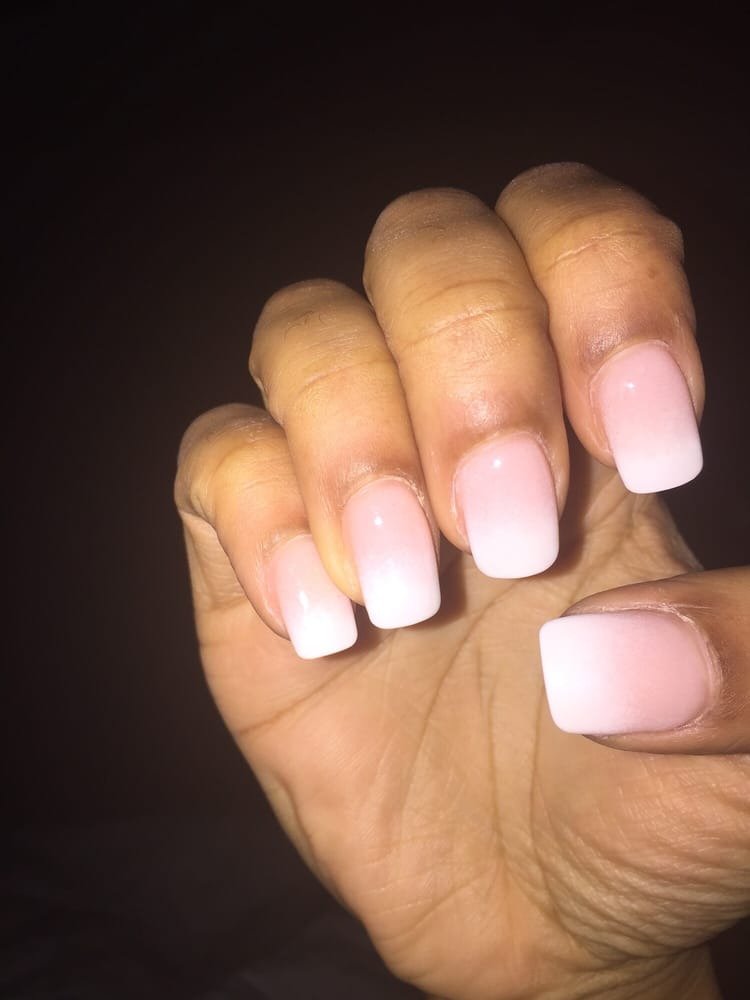 Photo Of Castle Nail Spa Dallas Tx United States Ombré Nails By