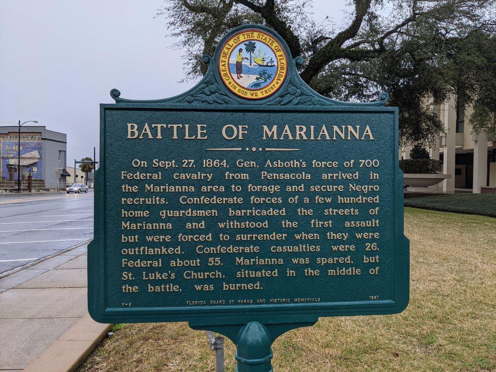 Battle Of Marianna Historical Marker: 4419 Lafayette St, Marianna, FL