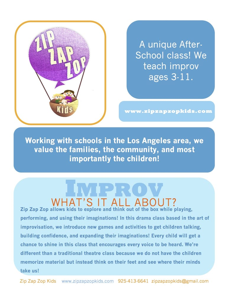 Zip Zap Zop Kids: Los Angeles, CA