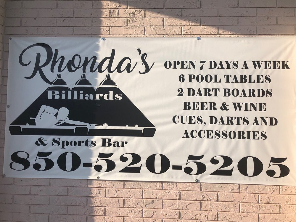 Rhonda's Billiards & Sports Bar: 686 A Hwy 90 W, DeFuniak Springs, FL