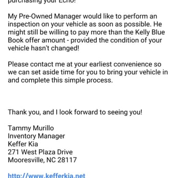 keffer kia 38 photos 14 reviews car dealers 271 w plaza dr mooresville nc phone. Black Bedroom Furniture Sets. Home Design Ideas