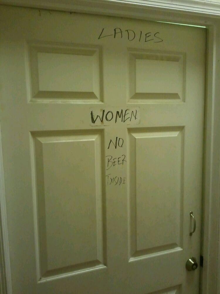 Glory hole conveniently located in womens bathroom Yelp. Bathroom Themes Ideas