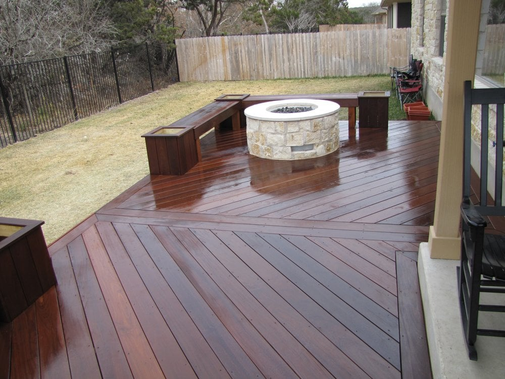 IPE Deck w/ Gas Fire Pit - Yelp