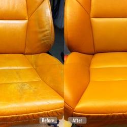 Photo Of Fibrenew   Marietta   Woodstock, GA, United States. Leather Seat  Redye ...