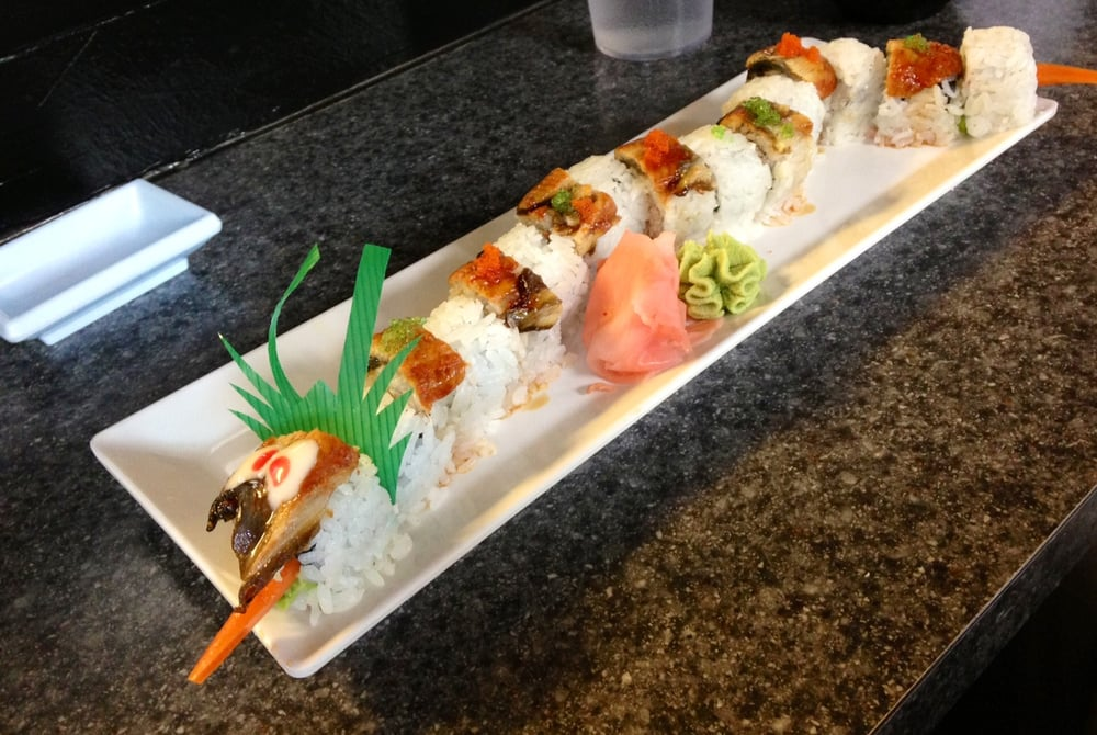 Dragon Roll Combined With California Roll Yelp