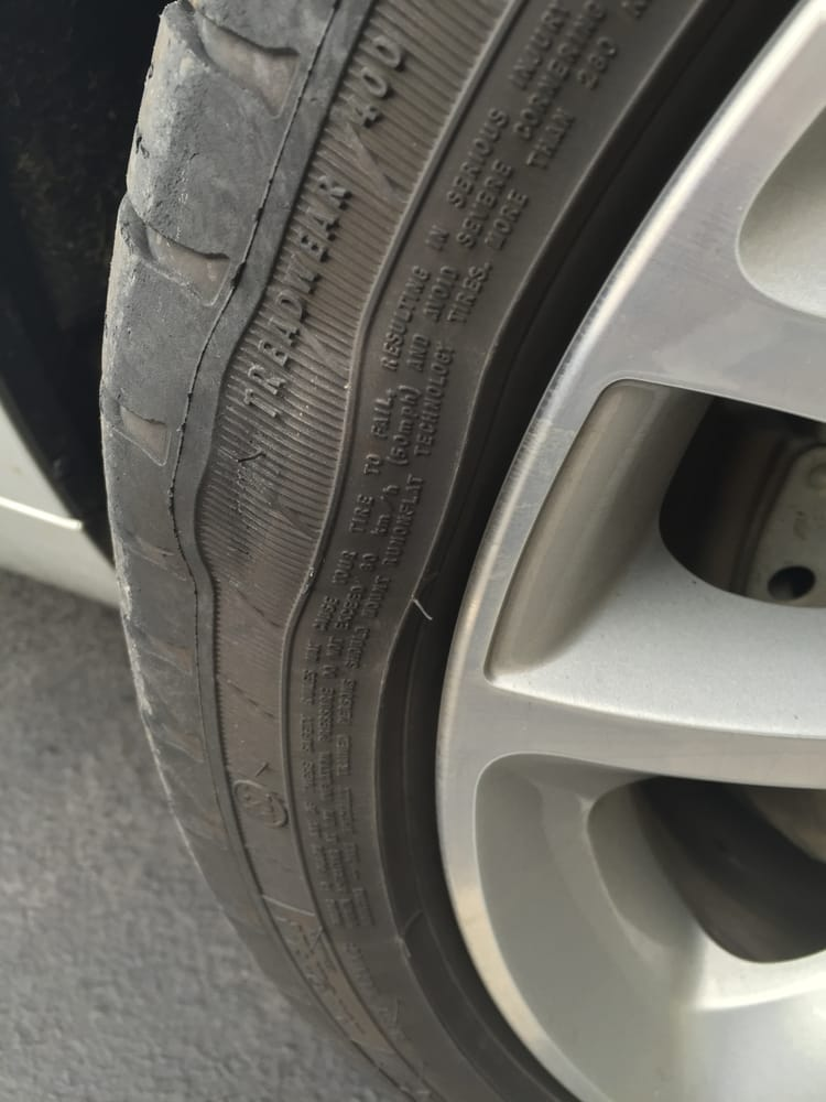 sidewall bubble  tire bmw northwest refuses  honor tire warranty    car
