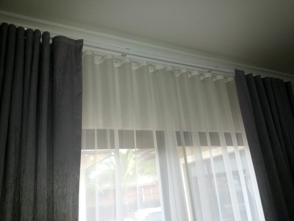 Ripple fold curtains double track sheer blackout yelp for Interior design curtains