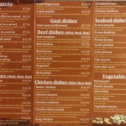 Shahi indian cuisine indian 128b canning hwy for Australian cuisine menu