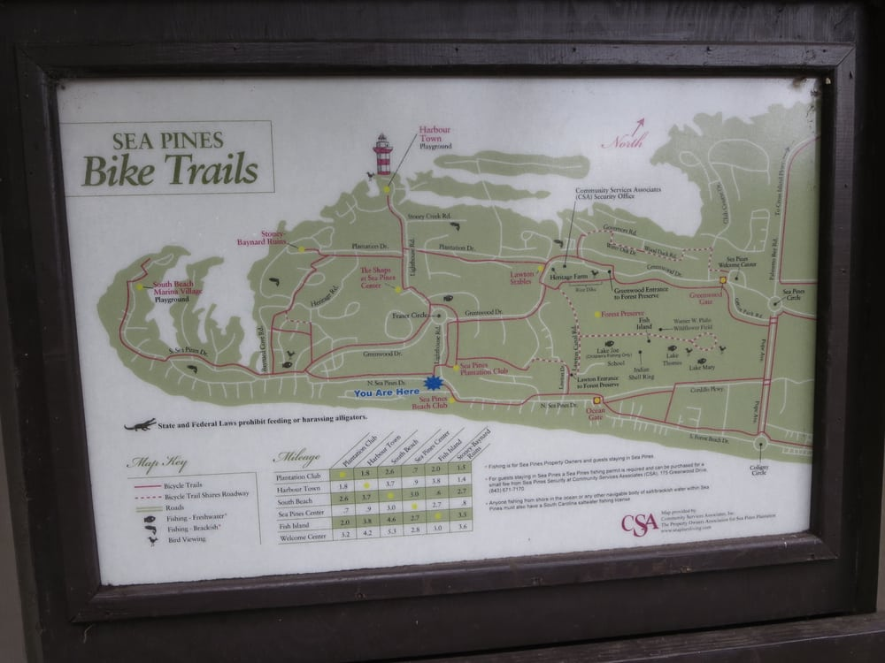 Nearby Sea Pines Bike Trail Map Yelp - Map of sea pines hilton head island
