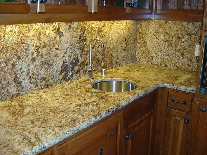 Bianco Antico Granite With Full Height Backsplash Yelp