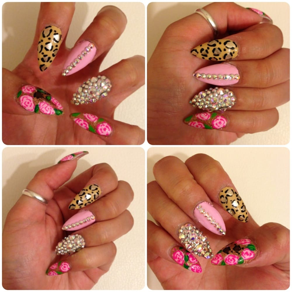 $40 Full set stilleto nails. Done by Patty, she\'s awesome! Pretty ...