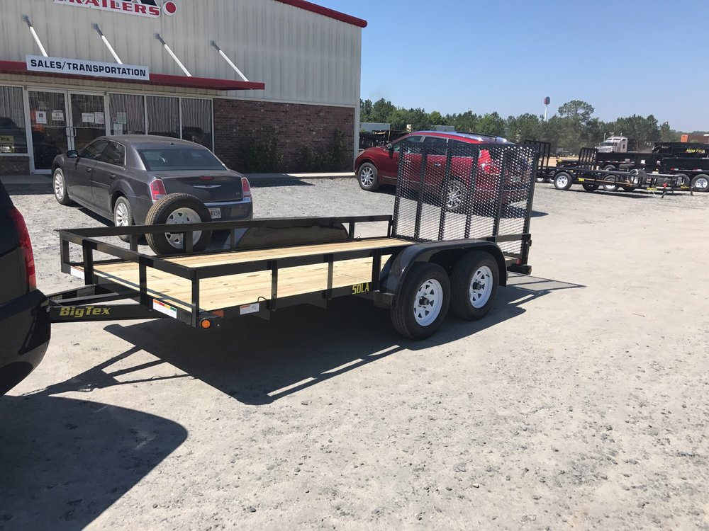big tex 50la 14 foot dual axle tandem trailer with fold up. Black Bedroom Furniture Sets. Home Design Ideas