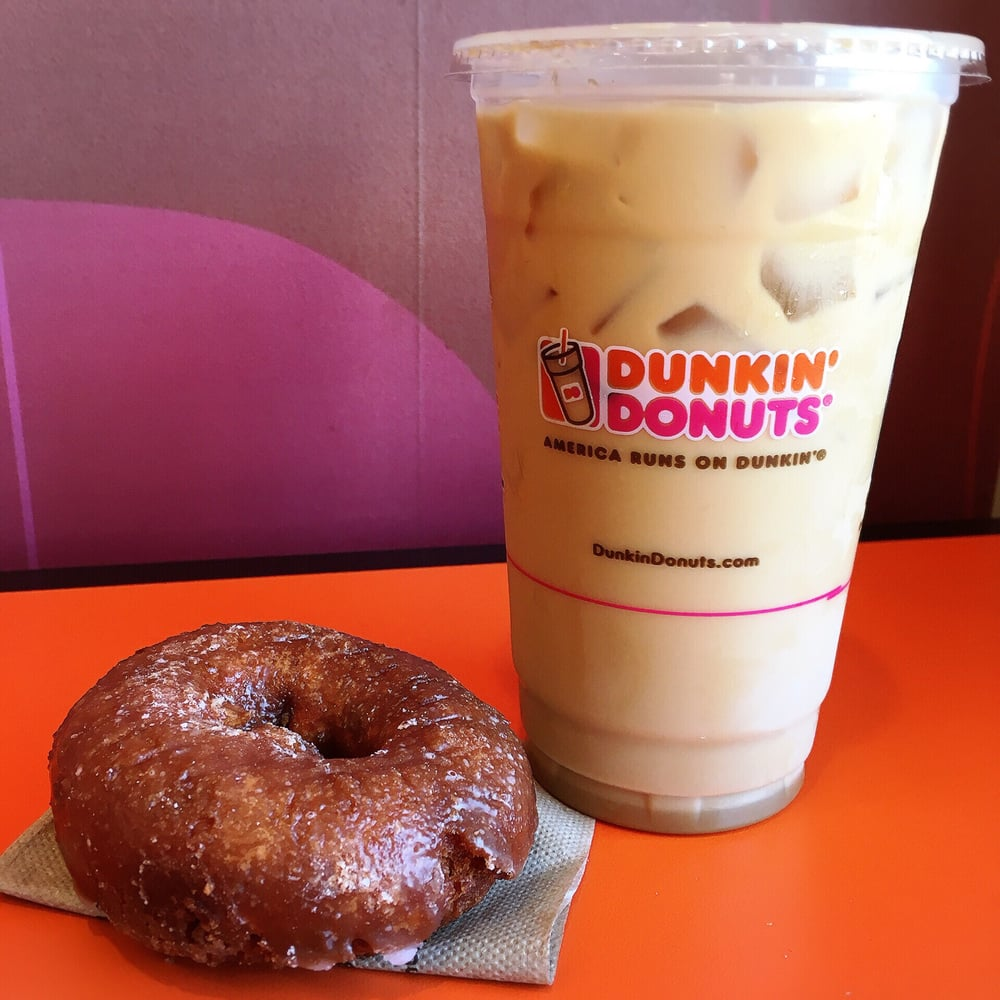 Dunkin Donuts Caramel Swirl Iced Coffee With Cream