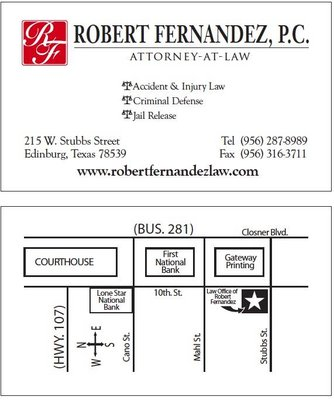 Law Office of Robert Fernandez 215 W Stubbs St Edinburg, TX