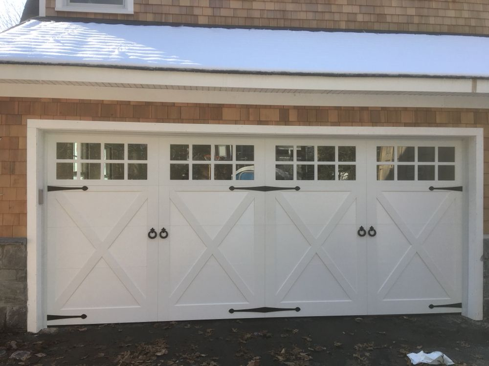 Twin Garage Doors: 698 Fort Salonga Rd, Northport, NY